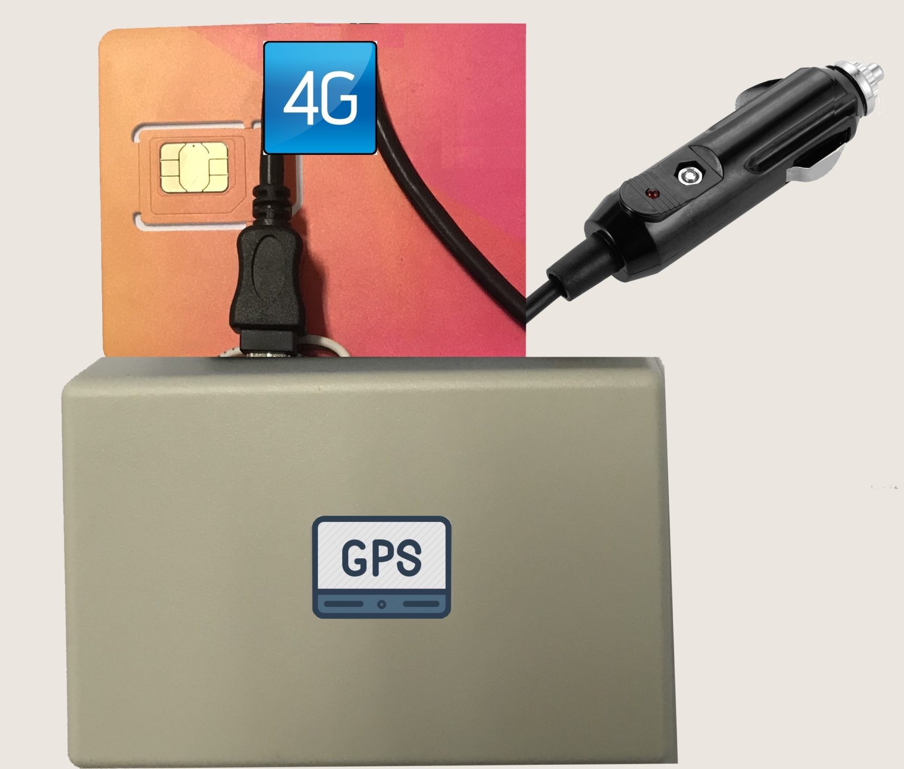 GPS Solution: Subcontractor GPS tracker 4G with 'plug & go' operation via cigarette lighter terminal,no install no battery life issues,for use when you have subcontractors who work for your company
